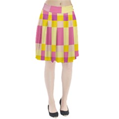 Colorful Squares Background Pleated Skirt