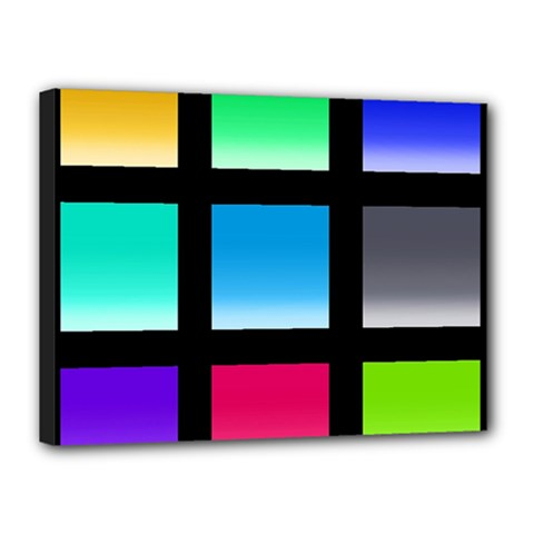 Colorful Background Squares Canvas 16  X 12