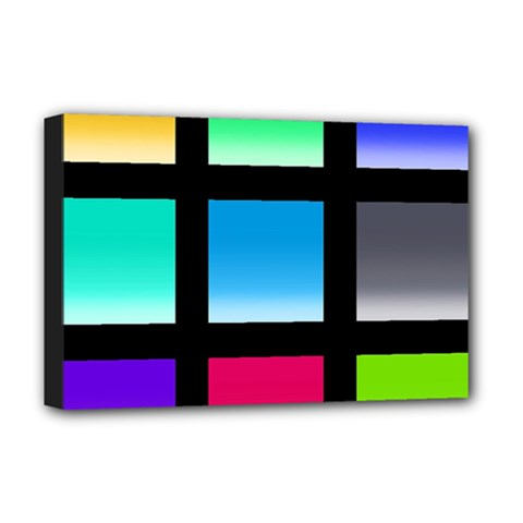 Colorful Background Squares Deluxe Canvas 18  x 12