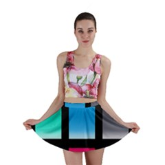 Colorful Background Squares Mini Skirt