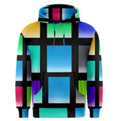 Colorful Background Squares Men s Pullover Hoodie