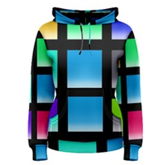 Colorful Background Squares Women s Pullover Hoodie