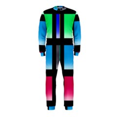 Colorful Background Squares OnePiece Jumpsuit (Kids)
