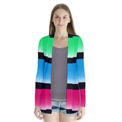 Colorful Background Squares Cardigans
