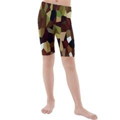 Crystallize Background Kids  Mid Length Swim Shorts