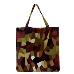 Crystallize Background Grocery Tote Bag