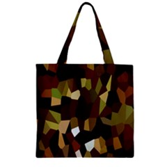 Crystallize Background Zipper Grocery Tote Bag
