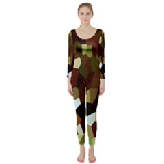 Crystallize Background Long Sleeve Catsuit