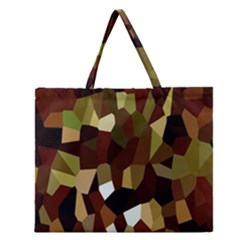 Crystallize Background Zipper Large Tote Bag