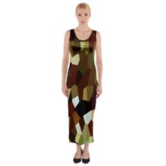 Crystallize Background Fitted Maxi Dress