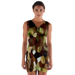 Crystallize Background Wrap Front Bodycon Dress
