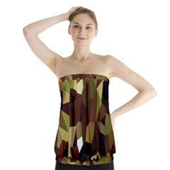 Crystallize Background Strapless Top