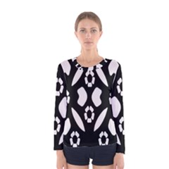 Abstract Background Pattern Women s Long Sleeve Tee