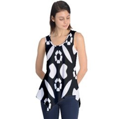 Abstract Background Pattern Sleeveless Tunic