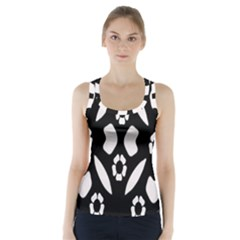 Abstract Background Pattern Racer Back Sports Top
