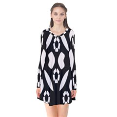 Abstract Background Pattern Flare Dress