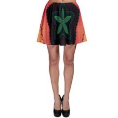 Fractal Flower Skater Skirt