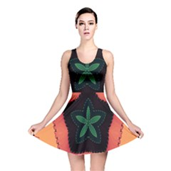Fractal Flower Reversible Skater Dress