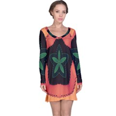 Fractal Flower Long Sleeve Nightdress