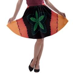 Fractal Flower A Line Skater Skirt