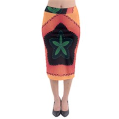 Fractal Flower Midi Pencil Skirt