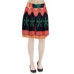 Fractal Flower Pleated Skirt
