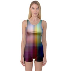 Colorful Abstract Background One Piece Boyleg Swimsuit