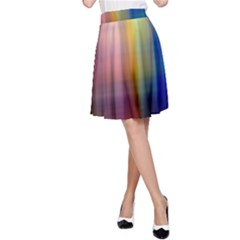Colorful Abstract Background A Line Skirt