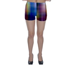 Colorful Abstract Background Skinny Shorts