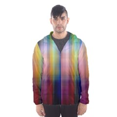 Colorful Abstract Background Hooded Wind Breaker (Men)