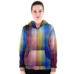 Colorful Abstract Background Women s Zipper Hoodie