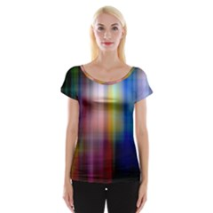Colorful Abstract Background Women s Cap Sleeve Top