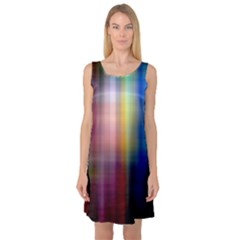 Colorful Abstract Background Sleeveless Satin Nightdress