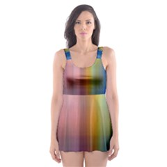 Colorful Abstract Background Skater Dress Swimsuit