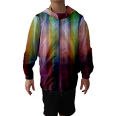 Colorful Abstract Background Hooded Wind Breaker (Kids)