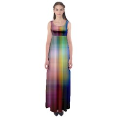 Colorful Abstract Background Empire Waist Maxi Dress
