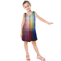 Colorful Abstract Background Kids  Sleeveless Dress