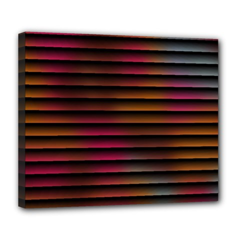 Colorful Venetian Blinds Effect Deluxe Canvas 24  x 20