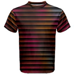 Colorful Venetian Blinds Effect Men s Cotton Tee