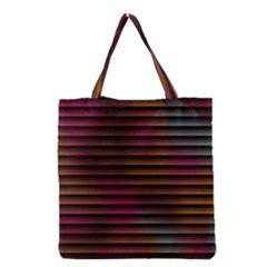 Colorful Venetian Blinds Effect Grocery Tote Bag