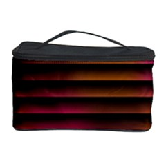 Colorful Venetian Blinds Effect Cosmetic Storage Case