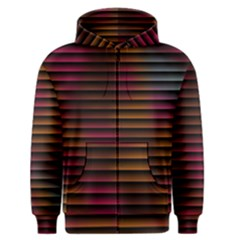 Colorful Venetian Blinds Effect Men s Zipper Hoodie
