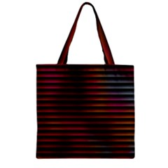 Colorful Venetian Blinds Effect Zipper Grocery Tote Bag