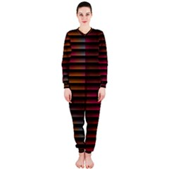 Colorful Venetian Blinds Effect OnePiece Jumpsuit (Ladies)