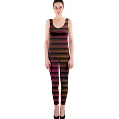 Colorful Venetian Blinds Effect OnePiece Catsuit