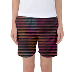 Colorful Venetian Blinds Effect Women s Basketball Shorts