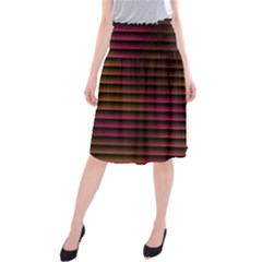 Colorful Venetian Blinds Effect Midi Beach Skirt