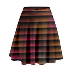 Colorful Venetian Blinds Effect High Waist Skirt