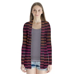 Colorful Venetian Blinds Effect Cardigans