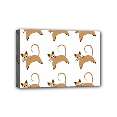 Cute Cats Seamless Wallpaper Background Pattern Mini Canvas 6  x 4